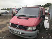 MERCEDES VITO 108 CDI SPARE PARTS AVAILABLE —— BREAKING