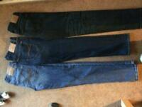3 pairs of brand new branded name jeans