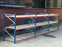 Longspan Shelving, Palllet racking, 3 x joined bays, warehouse PSS £435.00 + VAT