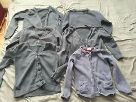 Girls blue school cardigan/jumper bundle size 4-5 years