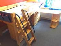 Mid sleeper Thuka cabin bunk bed +storage +drawers+ desk solid wood Thuka