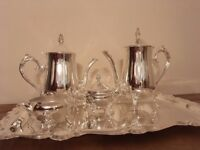 Vintage Studio Silversmiths Coffee/tea set complete with box