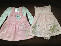 Bundle of 2 Baby Girls Quess How Much I Love YOU Dresses Up to 3 Months NEW Will Post