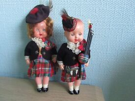 Pair of Scottish dolls