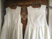 Two Ivory bridesmade dresses
