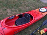 Perception Carolina 14 Touring Kayak + Accessories