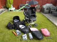 iCandy Pear - Full Travel System - Seats & Carry Cots included!!