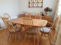 Ercol Dinning Table and 6 Chairs
