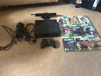 Xbox 360 (250GB) with kinect and 9 Games