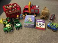 Happyland ELC Wooden Bus John Deere Tractors Car Books Fire Engine Teddy
