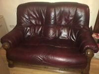 3 Seater + 2 seater leather settee's.