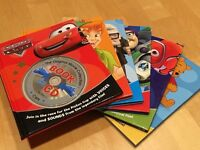 6 DISNEY BOOKS WITH AUDIO CDs VOICE & SOUNDS FROM FILMS :-)