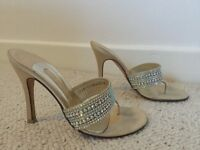 Gina mules size 5 with diamantés