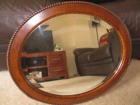 Solid Wood Mirror for sale. For collection in Romford, Essex - £15.00