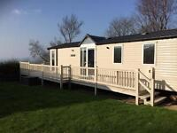 Static luxury caravan for sale at Wemyss Bay Holiday Park