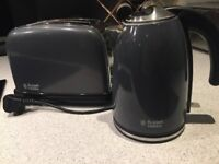 Russell Hobbs Matching Kettle and Toaster Grey