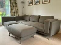 3 seater corner sofa with footstool