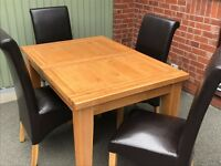 Oak Table with 4 Chairs