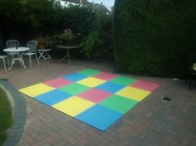 Multi coloured interlocking rubber playmats. £25.00 buyer collects Godmanchester, Huntingdon