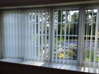 Two Vertical Window Blinds - Cream coloured
