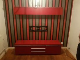 Ikea gloss red tv unit