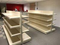 Shop Shelving Double Sided (like new) 2 Sets