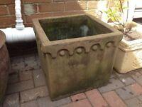 Stone/teracotta garden pots x 4