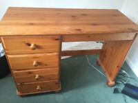 Solid pine small desk / dresser - open to offers