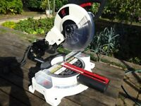 Axminster AWSMS10 2hp. 254mm Professional Sliding Mitre Saw - Excellent Condition