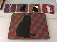 Set of 4 table mats and coasters