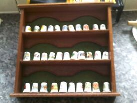 SET OF THIMBLES WITH DISPLAY CASE