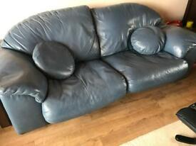 2 seater and 3 sweater leather Natuzzi sofas