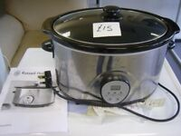 Russell Hobbs 6.5 Litre Digital Slow Cooker with User Guide. Good Working Order