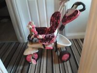 4 in one smart trike in pink excellent condition