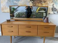 Stunning mid century dressing table with mirror