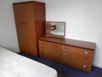 Wardrobe and drawers.