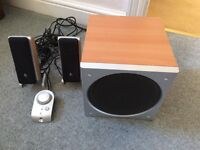 LOGITEC COMPUTER/TELEVISION SPEAKERS used but in very good condition