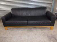 Black Leather 3-2-1 Suite (Sofa)