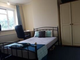CLEAN BIG DOUBLE ROOM IN A FULLY FURNISHED FLAT OPP. WIMBLEDON CHASE STATION, NEXT TO TESCO, COOP.