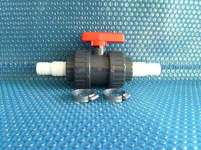 Motorkugelhahn PVC 2 Wege 230V 63mm autom Rückführung stromlos geöffnet