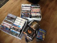 Over 180 dvds, blu rays, and Boxsets