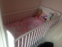 Excellent condition white cot bed