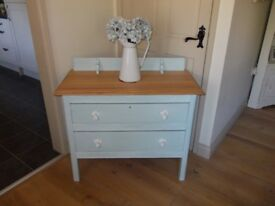 Shabby chic 2 drawer Edwardian chest