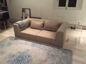 2 seater sofa in modern neutral design