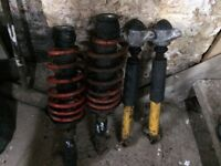 Vw mk4 golf/bora front and rear shockers with front springs