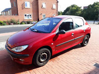 Peugoet 206 2001/51 Reg - 1.4GLX 5Door Red 2 Owners Full MOT, SH, Climate Control, Stereo/CD Changer