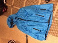 Crane Blue Ski Jacket Size 11/12 with free Ski Gloves