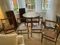 Four antique folding shares - fantastic to save space!