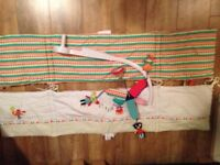 2 cot bed bumper and matching cot mobile