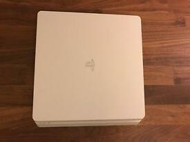 PS4 Slim in White with 2 Games!